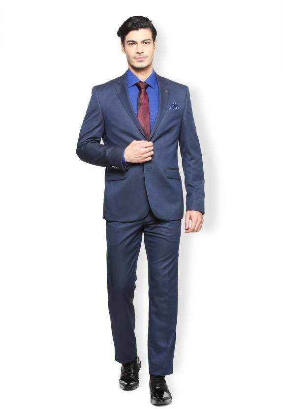 Van Heusen Two Piece Self Design Men Suit