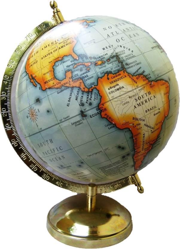 Ajmoda Antique Gold World globe Educational/Antique Globe with Gold on