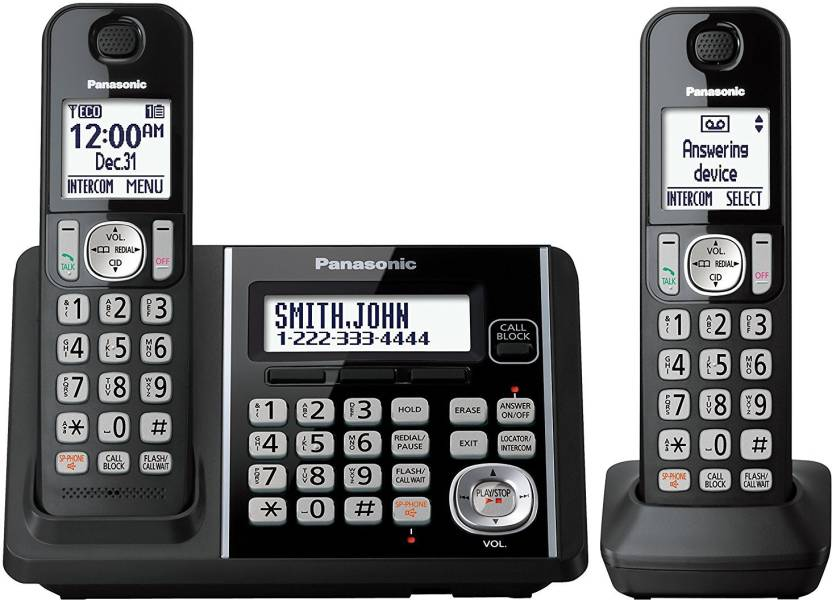 Panasonic KX-TG3752B Expandable Cordless Phone with Call Block and