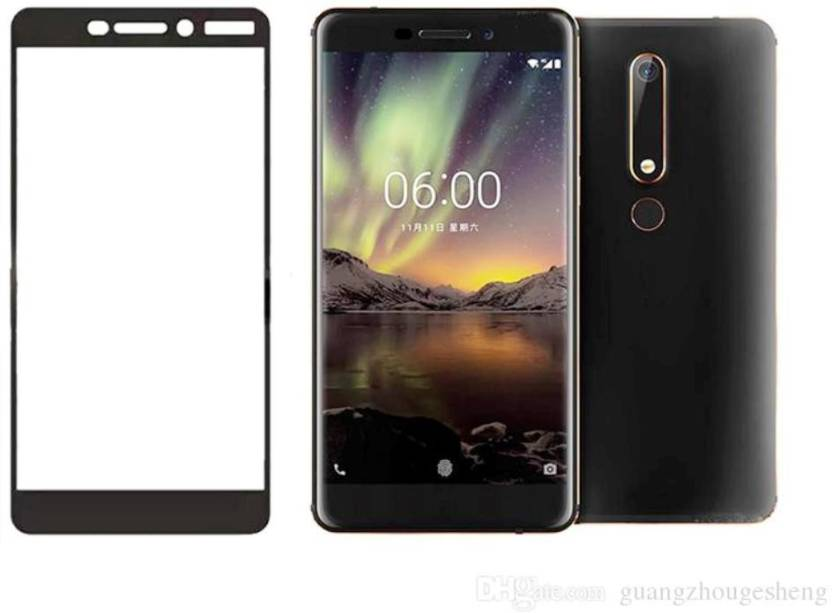 brand new 71c43 4b704 9H Edge To Edge Tempered Glass for Nokia 6.1(2018) (5D Tempered glass)(full  body cover)