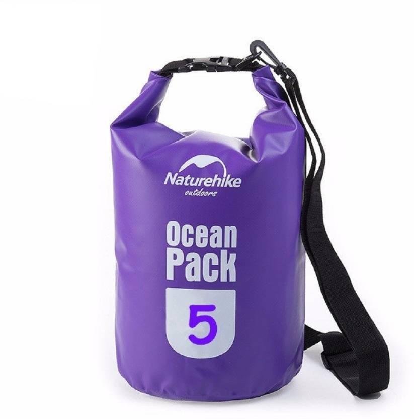 Lemish 5 Liter Waterproof Outdoor Ocean Pack Dry Bag For Drifting Swimming Gym Bag-Purple