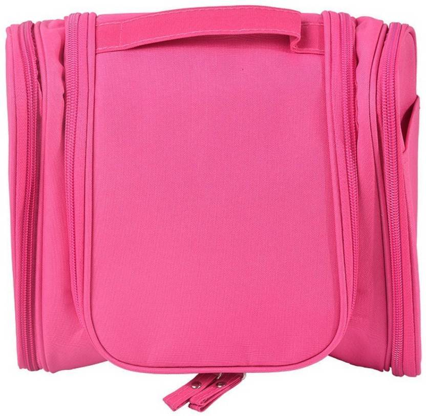 755f69f70af5 House of Quirk Baby Pink Travel Toiletry Bag Travel Toiletry Kit (Pink)