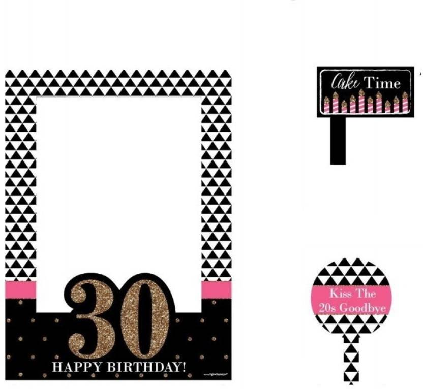 Theme My Party Photo Frame For Your Birthday/Party - 30th Birthday ...