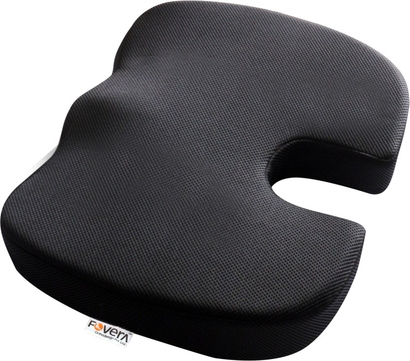 Orthopedic Memory Foam Pillow by FORTEM Grey Coccyx /& Sciatica Pain Relief -Improve Posture Tailbone Car Seat Cushion /& Lumbar Support for Office Computer Chair Wheelchair Washable Cover