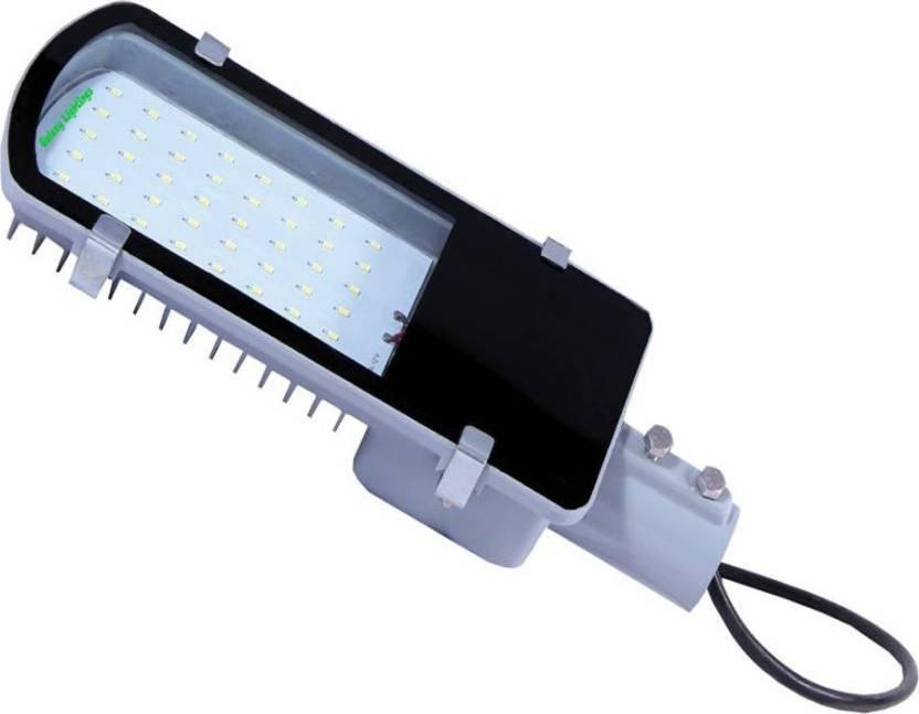 Galaxy street light 24 watt white pack of 1 Night Lamp