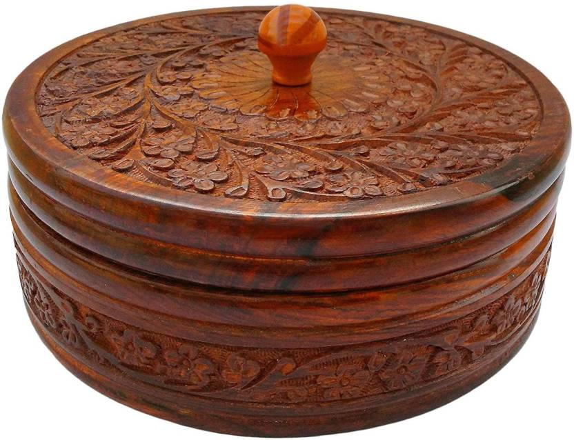 Jk Handicrafts Wooden Casserole Wooden Box Handcrafted Pot Serving