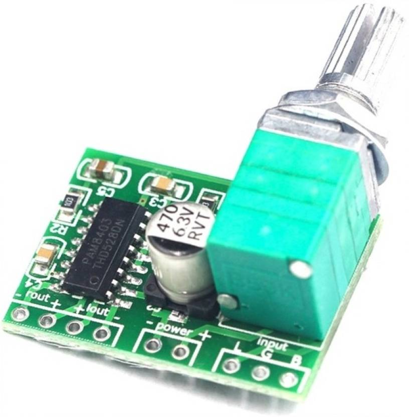 TCS Mini PAM8403 DC 5V 2 Channel USB Digital Audio Amplifier Sound Recorder  and Sound Circuit Electronic Hobby Kit