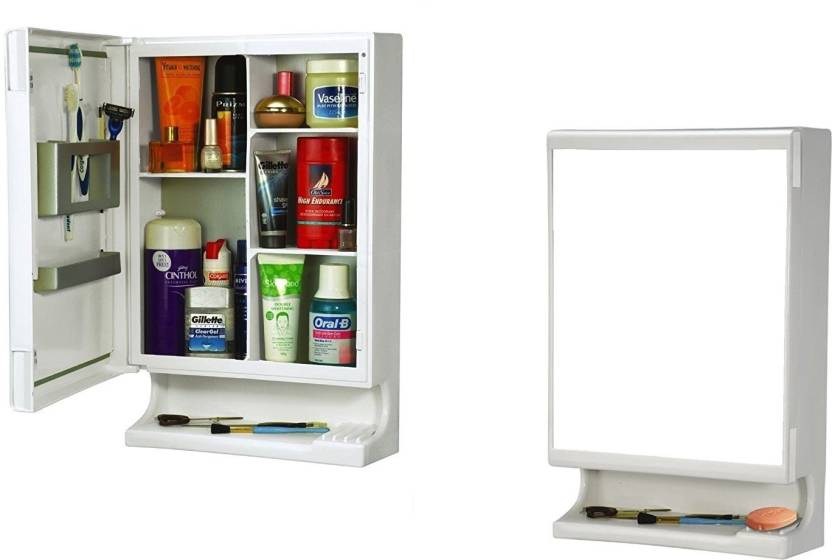 Branco Branco New Look Bathroom Mirror Cabinet White Brc 727
