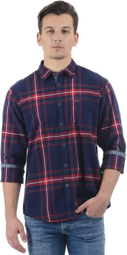 9871e734e0 Pepe Jeans Men Checkered Casual Dark Blue