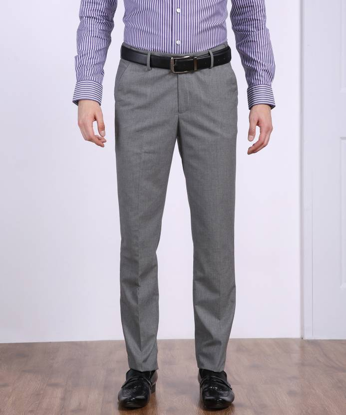 288ccac95 Peter England Slim Fit Men s Grey Trousers - Buy Grey Peter England Slim  Fit Men s Grey Trousers Online at Best Prices in India