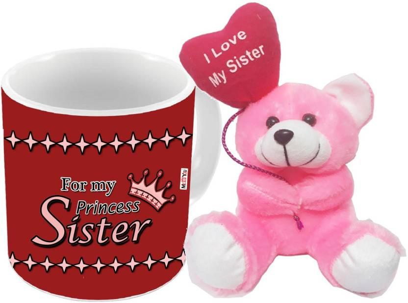 MEYOU Gift For Raksha Bandhan Anniversary Gifts SisterBirthday SisterRakhi Sister IZ18DTTM 324 Mug Soft Toy Set Price In