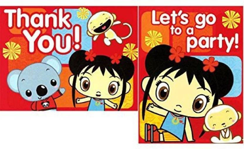 Generic Amscan Adorable Ni Hao Kai Lan Red Birthday Party