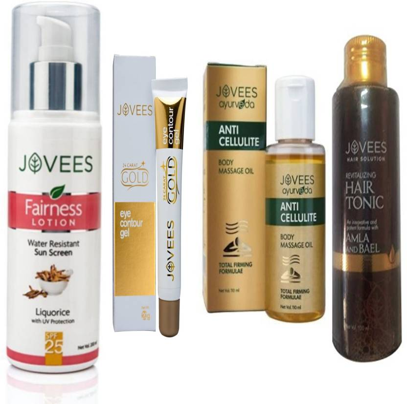 Jovees Fairness Lotion Sun Screen-200ml, Eye Contour Gel-20g, Anti