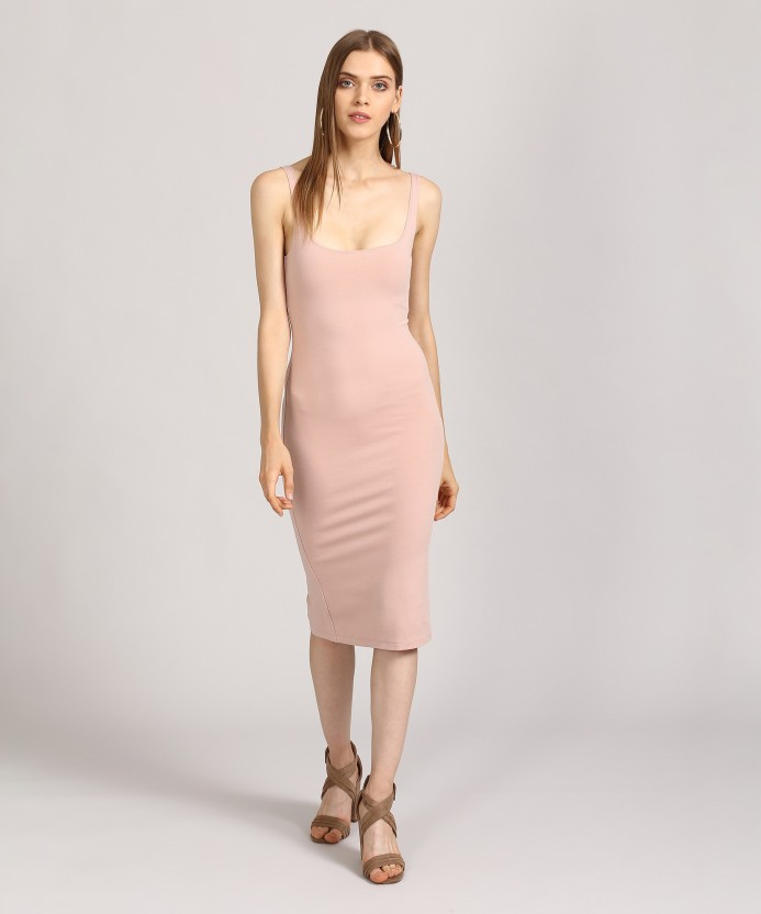 Forever 21 Women's Bodycon Pink Dress