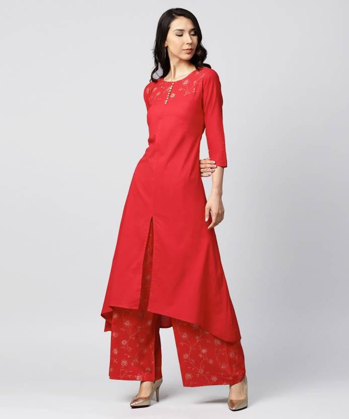 37fefdba1e4 Nayo Women Kurta and Palazzo Set - Buy Nayo Women Kurta and Palazzo Set  Online at Best Prices in India