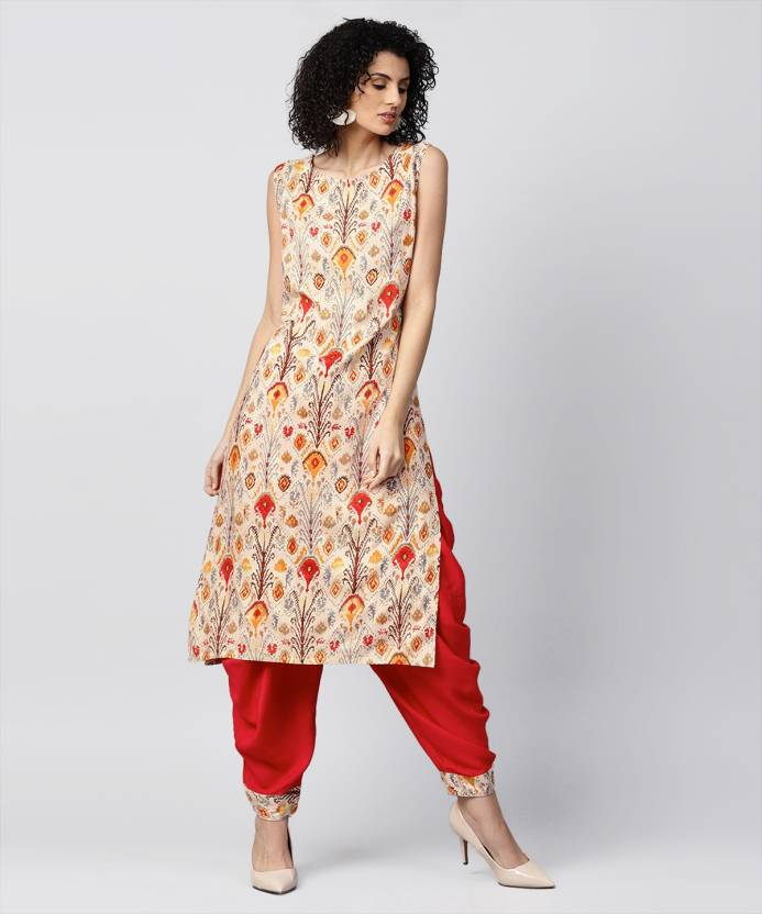 5992ee3abaf Nayo Women Kurta and Dhoti Pant Set - Buy Nayo Women Kurta and Dhoti Pant Set  Online at Best Prices in India