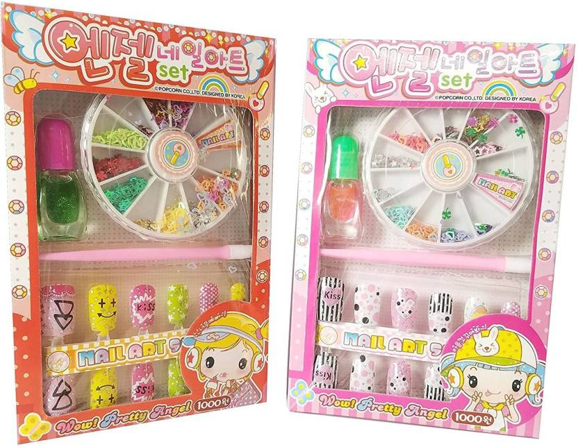 Oytra Set Of 2 Nail Art Kit For Girls Price In India Buy Oytra