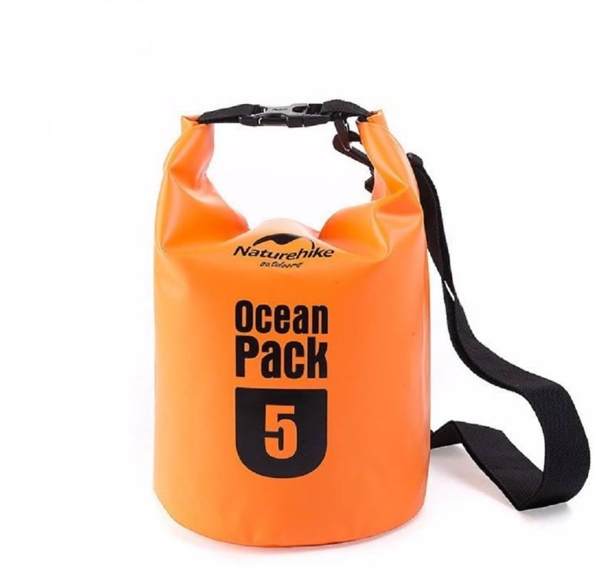 Lemish 5 Liter Waterproof Outdoor Ocean Pack Dry Bag For Drifting Swimming Gym Bag-Orange