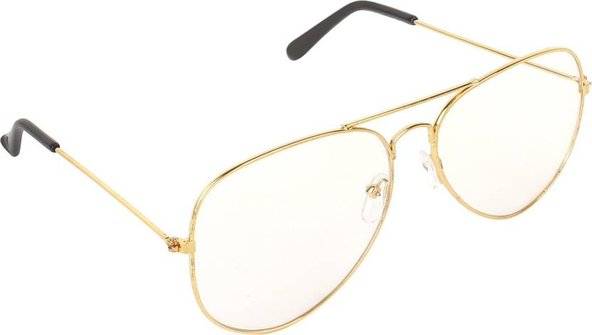 92d28c37a971 Buy Pogo Fashion Club Aviator Sunglasses Clear For Men   Women ...
