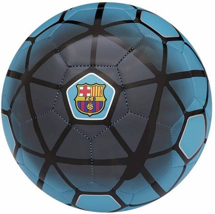 d0674c64198 millets FCB Supporter Barca Collection FIFA Approved Football - Size: 5 ( Pack of 1, Blue, Black)