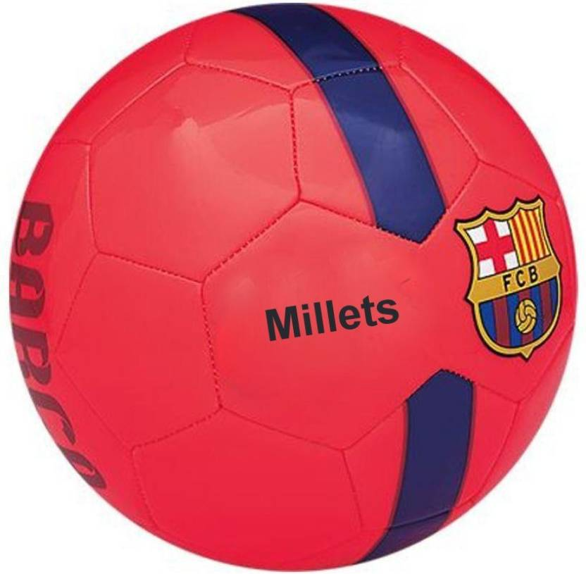 84cf668e8df millets FC Barcelona Blue FIFA Approved Football - Size: 5 (Pack of 1,  Maroon)