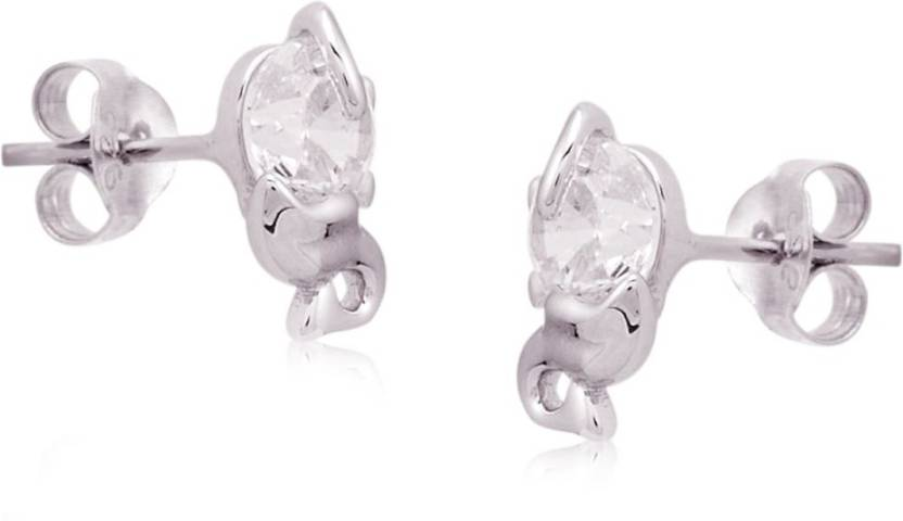 3f4c51895 Silver Shine 92.5 Sterling Silver Earrings For Girls and womens Sterling  Silver Stud Earring