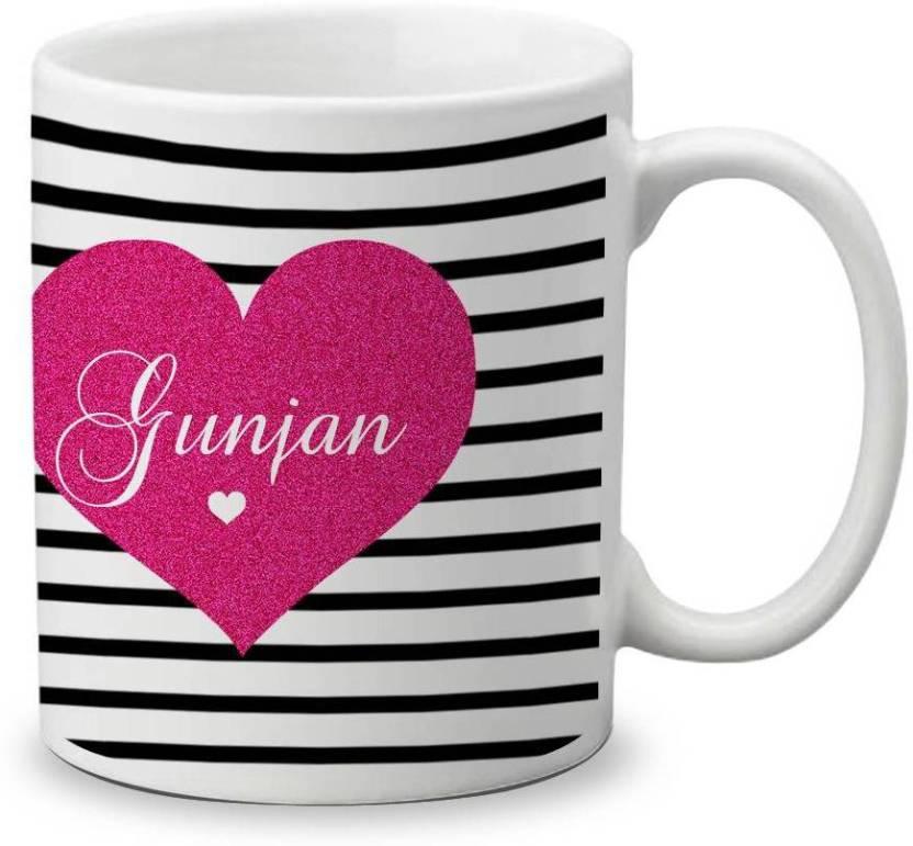 My Gifts Zone Beautiful Simple Gunjan Name Ceramic Coffee