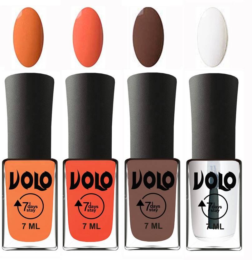 Volo Ultra Lasting HD Shine Awesome Nail Polish Combo Peach, Neon ...