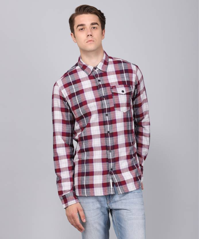 19cbb0b5 Tommy Hilfiger Men's Checkered Casual Shirt - Buy Red Tommy Hilfiger Men's  Checkered Casual Shirt Online at Best Prices in India | Flipkart.com