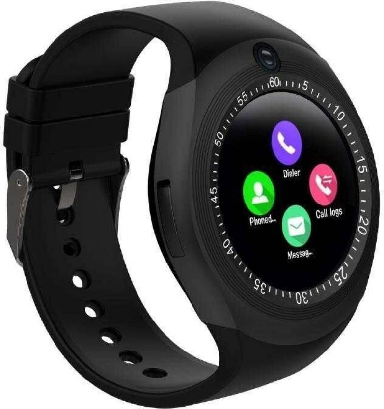 3d3626898 HBNS Y1 Black Bluetooth Smart Phone Watch With Camera This Device Track  steps
