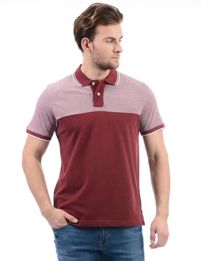 bbe1088b Aeropostale Color block Men Polo Neck Pink, Brown T-Shirt - Buy Aeropostale  Color block Men Polo Neck Pink, Brown T-Shirt Online at Best Prices in India  ...