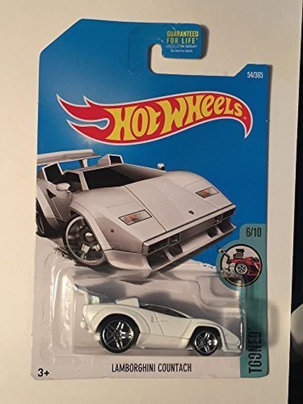 Hot Wheels 2017 Tooned Lamborghini Countach 54/365, White