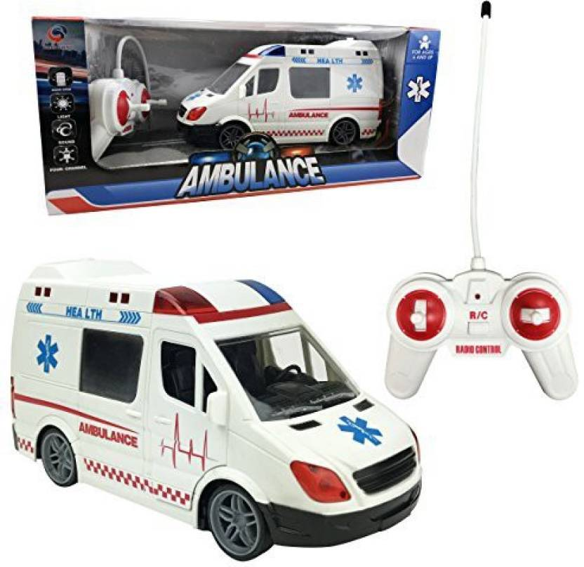 Liberty Imports Large RC Remote Control Rescue Ambulance Toy