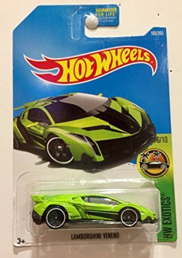 Hot Wheels 2017 Hw Exotics Lamborghini Veneno 165 365 Neon Green Multicolor