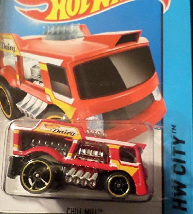 Hot Wheels 2015 HW City Chill Mill (Dairy Truck) 4/250, Red (Multicolor)