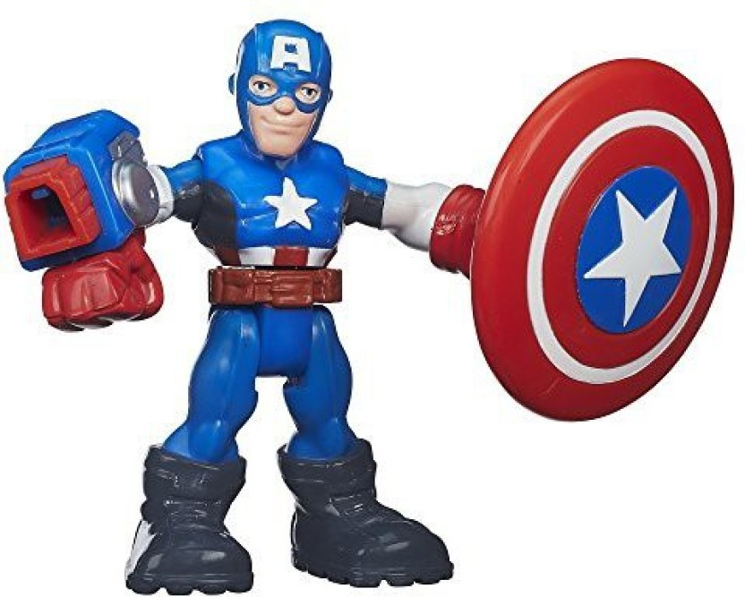 Marvel Super Hero Adventures Playskool Heroes Captain America Plush Toy