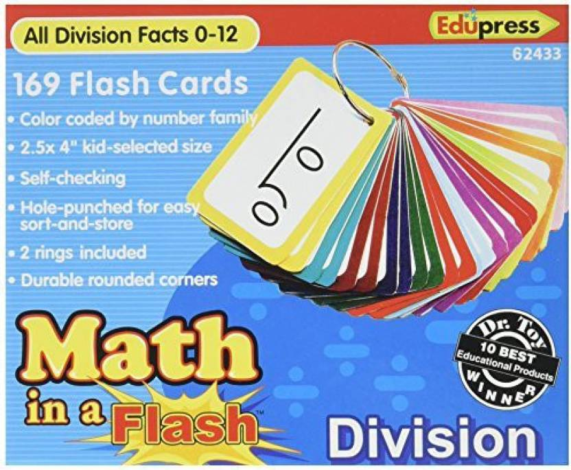 Edupress Math In A Flash Cards, Division (Ep62433) - Math In