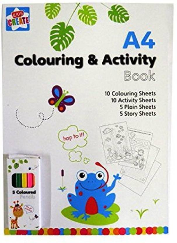 Kids Create Anker Arts And Crafts Drawing Book With 5 Colour