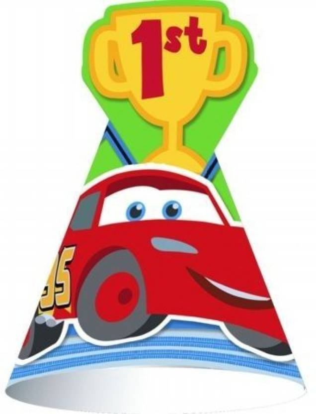 Hallmarc Disney 1St Birthday Cars Cone Hats 8 Count Party Accessory