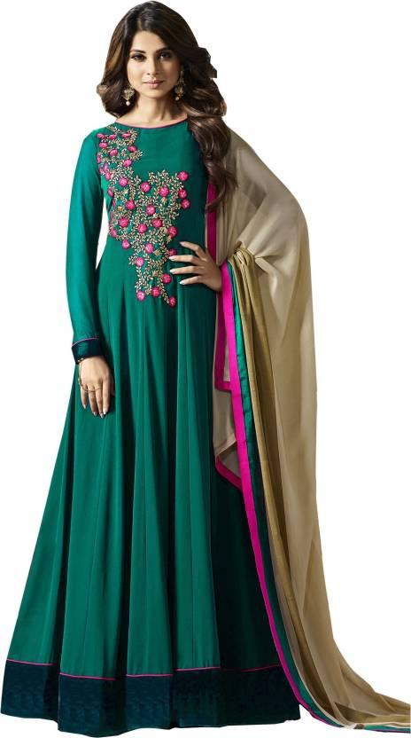 70808e562 Divyansh Boutique Georgette Embroidered Semi-stitched Salwar Suit Dupatta  Material Price in India - Buy Divyansh Boutique Georgette Embroidered ...
