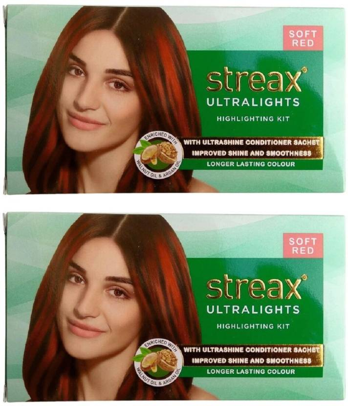 Streax Ultralight Highlighting Kit Soft Red Hair Color Price In