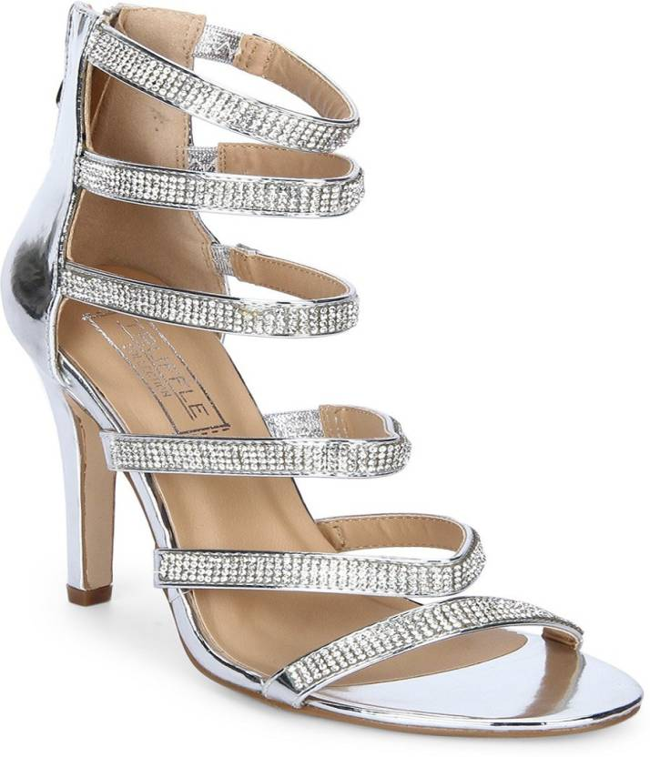 79b4c30d4f20 Truffle Collection Women Silver Heels - Buy Truffle Collection Women Silver  Heels Online at Best Price - Shop Online for Footwears in India