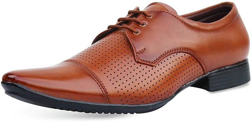 Chokas Men S Black Brown Office Wear Party Formal Shoes Derby For