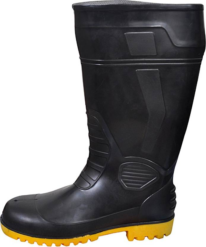 752a6d6e907 Fasteck Safety Gumboot 15 INCH hight with Steel toe & Lining Fabric ...