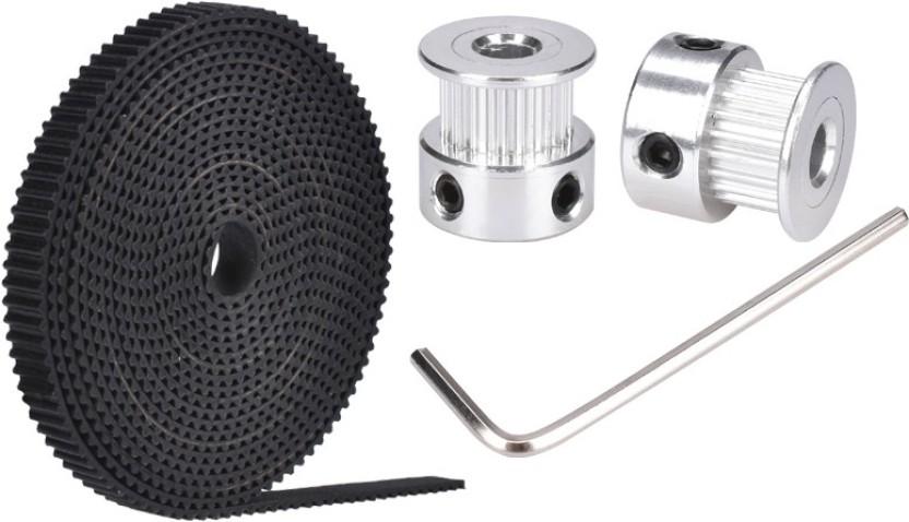 2Pcs gt2 timing pulley 20t 5//8mm 2m belt 6mm width kit for 3d printer repra PL