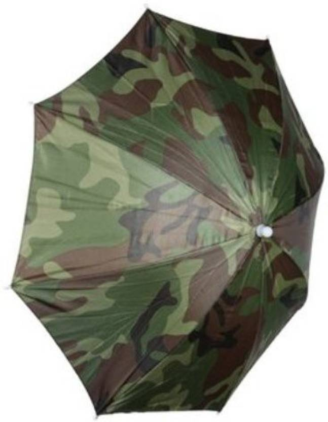 861b0e25471b3 Generic Foldable Sun Umbrella Fishing Hiking Golf Camping Cap Head Hats  Outdoor Umbrella (Green)