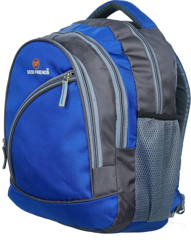 Good Friends SCHOOL BAG WATER PROOF STRONG BACKPACK Waterproof School Bag  (Blue 408942750dcf1