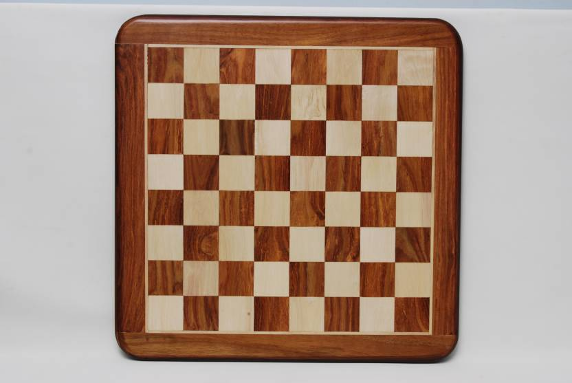 Best Chess 18 inches Chess Flat Board in Sheesham and Maple