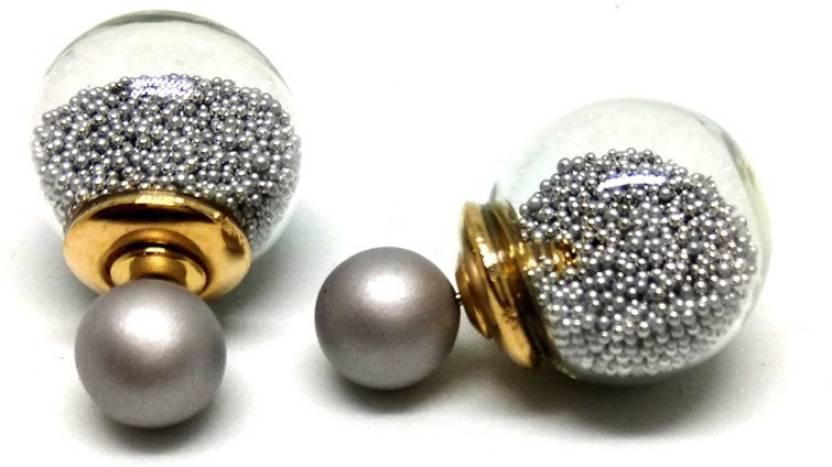 6e7064e63 Flipkart.com - Buy Ornativa Silver Double Sided Studs Earrings for Women &  Girls | Perfect for Party Wear, Gold Plated Stylish Earring | Glass Copper  Stud ...