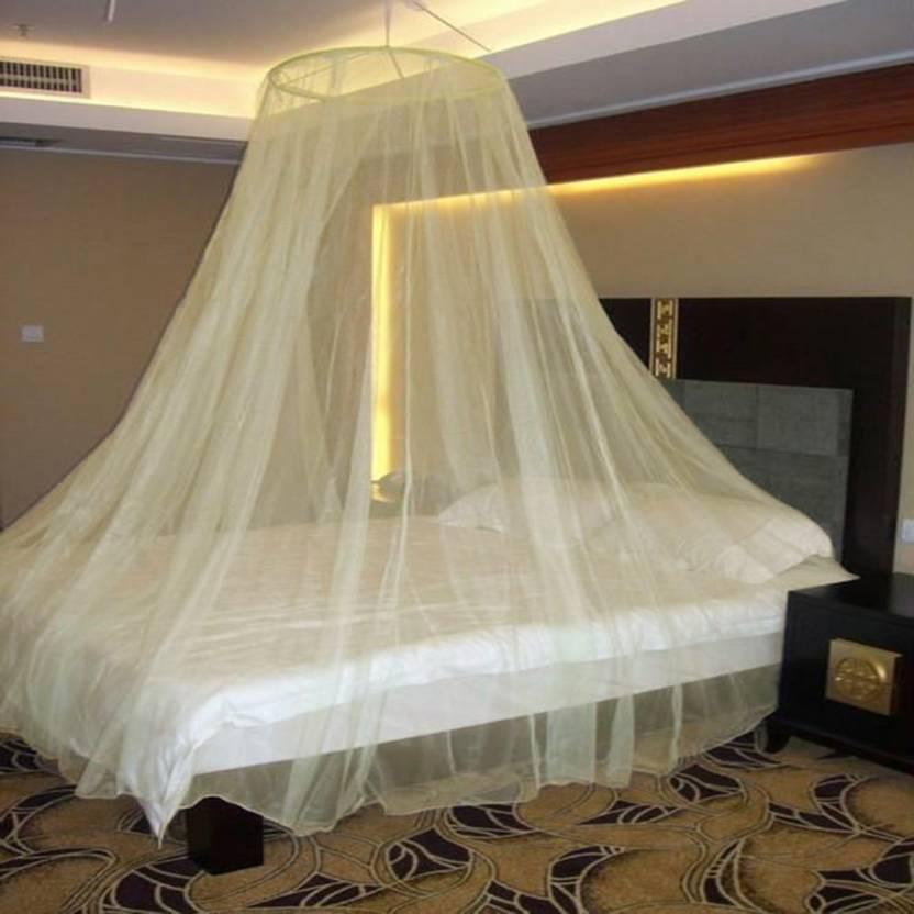 Neruti Enterprise Nylon Adults Double Bed Round Mosquito Net Price